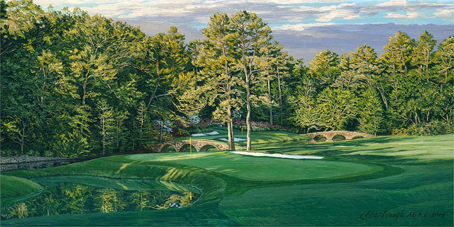 11th Hole, White Dogwood, Augusta National Golf Club 2009 - Linda Hartough