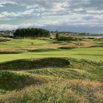 14th and 4th Holes Carnoustie - Linda Hartough