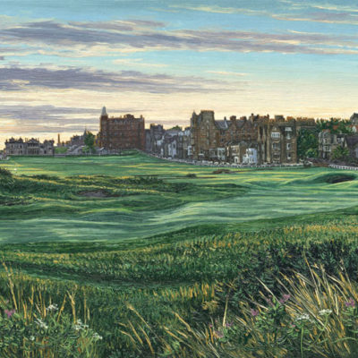 17th Hole, The Road Hole at Dawn St Andrews - Linda Hartough