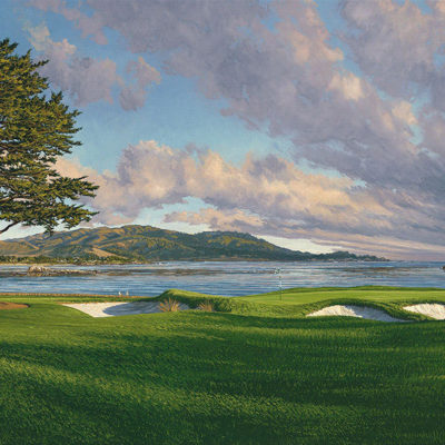 18th Hole, Pebble Beach (12 X 20) Linda Hartough