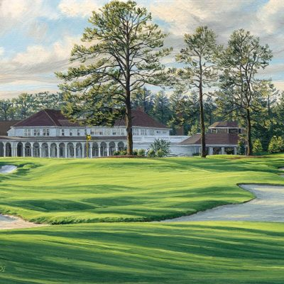 18th Hole, Pinehurst No. 4 - Linda Hartough