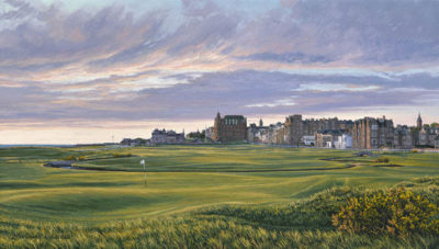 1st Hole, St Andrews - 376 Yards - Par 4 - Linda Hartough