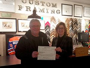 2019-01-15 - $250 Custom Framing Winner - Doug Jeneroux