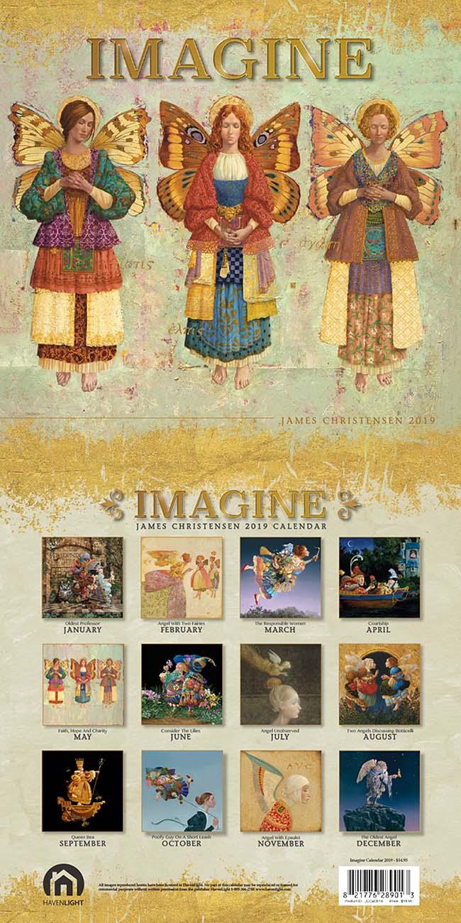 2019 Imagine - Calendar - James Christensen