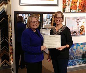 2020-01-15 $250 Custom Framing Winner - Elaine Kidd