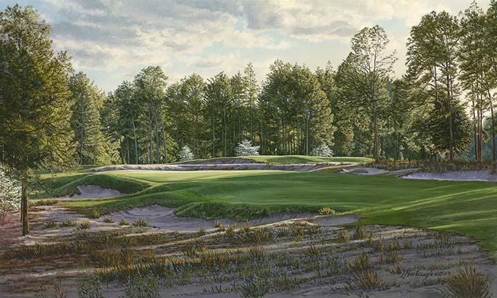 5th Hole, Pinehurst, No. 2 - Linda Hartough