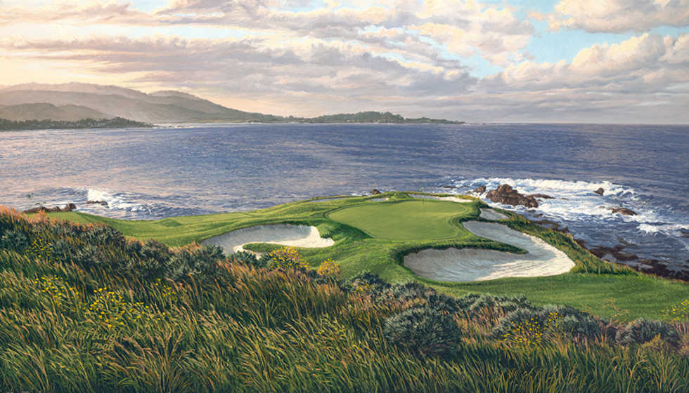 7th Hole, Pebble Beach 2010 Linda Hartough