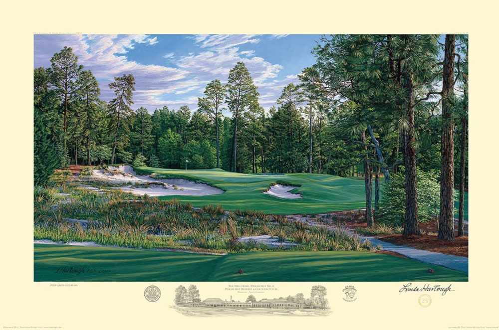 9th Hole, Pinehurst No. 2 – 2014 U.S. Open Championship and U.S. Open Women's Championship (Paper) - Linda Hartough