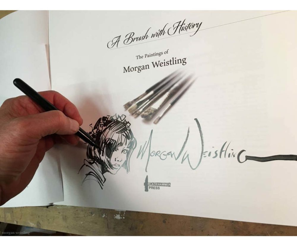 A Brush With History - The Paintings of Morgan Weistling - Book - Morgan Weistling (Remark Sketch 1)