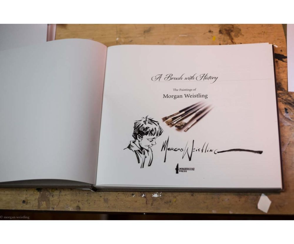 A Brush With History - The Paintings of Morgan Weistling - Book - Morgan Weistling (Remark Sketch 2)