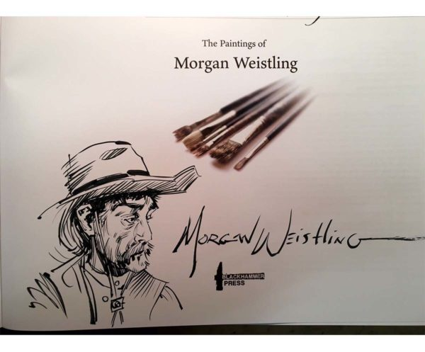 A Brush With History - The Paintings of Morgan Weistling - Book - Morgan Weistling (Remark Sketch 3)