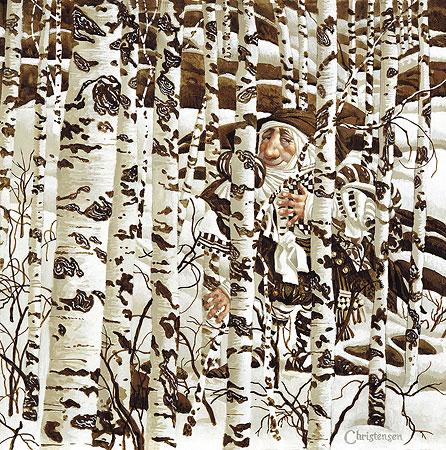A Christensen Character Cleverly Camouflaged in a Doolittle Landscape - James Christensen