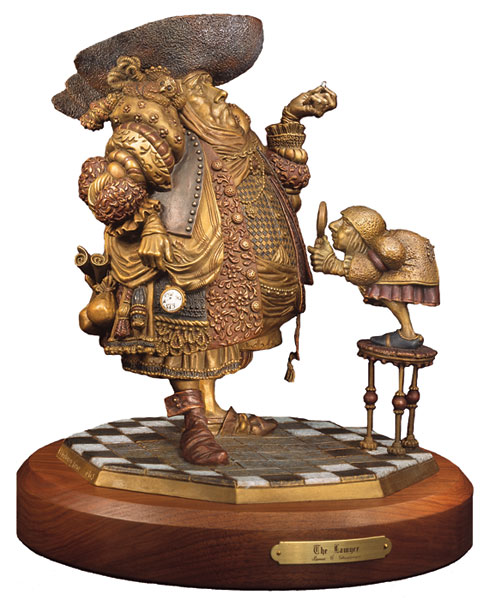 A Lawyer More Than Adequately Attired In Fine Print Bronze James Christensen