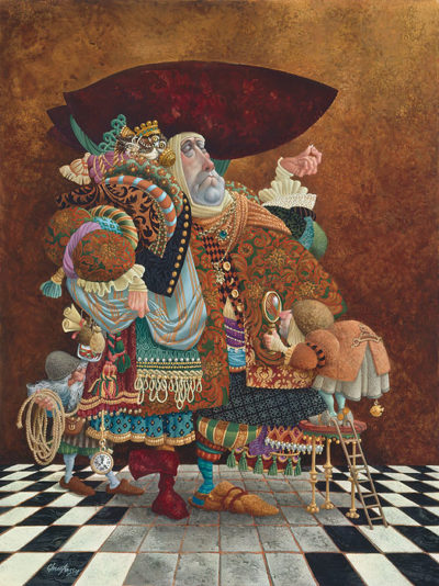 A Lawyer More Than Adequately Attired In Fine Print James Christensen