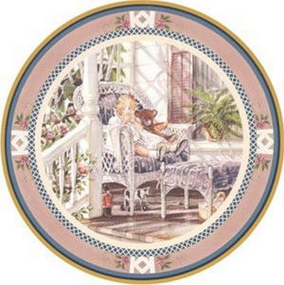 A Moments Rest Collector Plate Trisha Romance