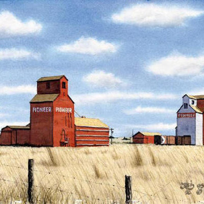 A Waning Prairie Scene Jack Ellis