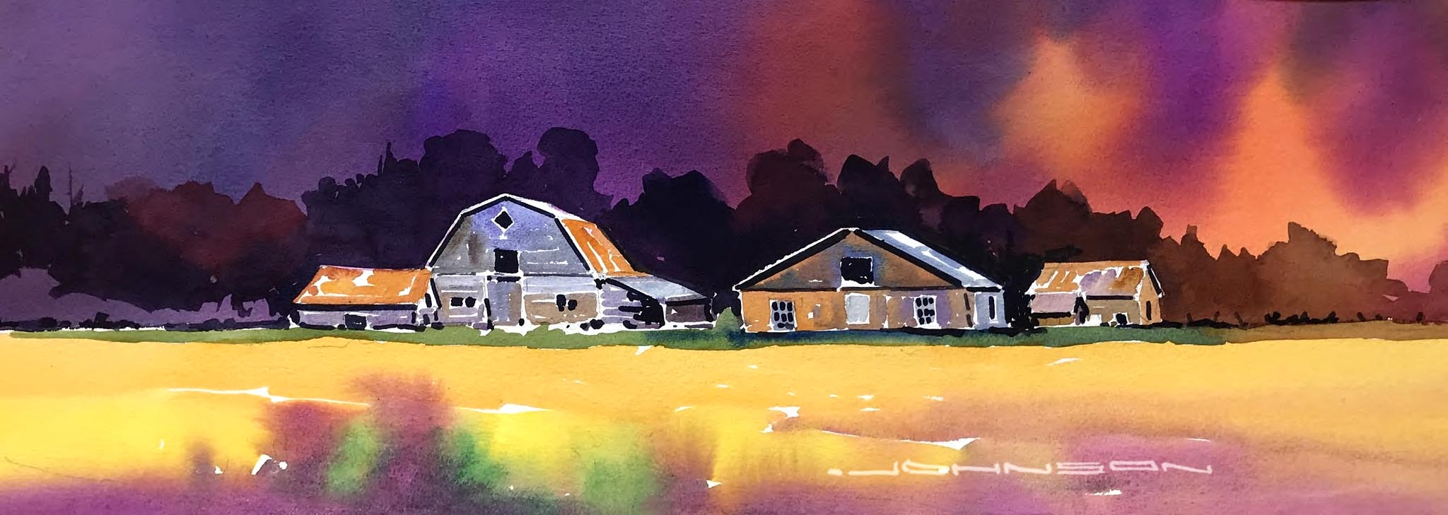 Abandoned Farm and Canola Field - Gregg Johnson