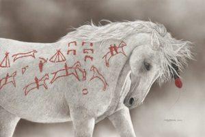 Advertising Horse Judy Larson