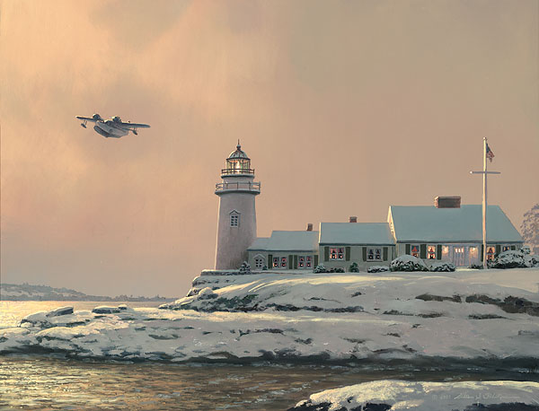 Afternoon Departure At Stoney Point Light William S. Phillips