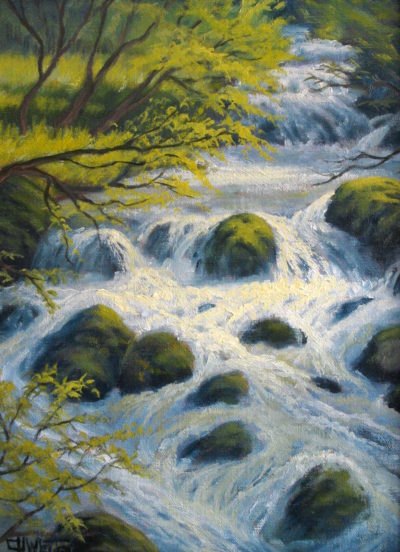 Alpine Stream Charles White