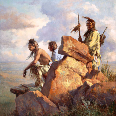 Among The Spirits Of The Long Ago People Howard Terpning