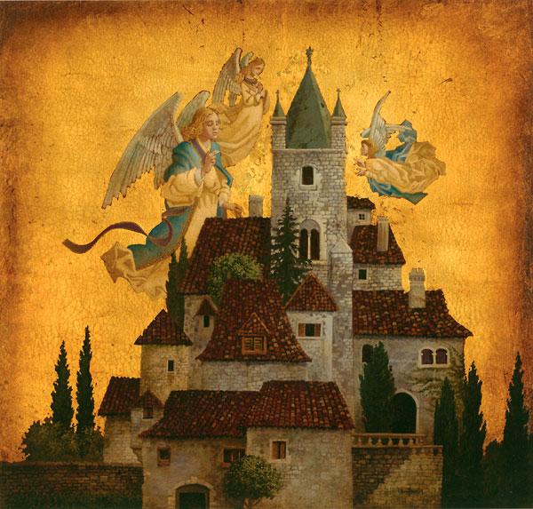 Angels Of My Village James Christensen