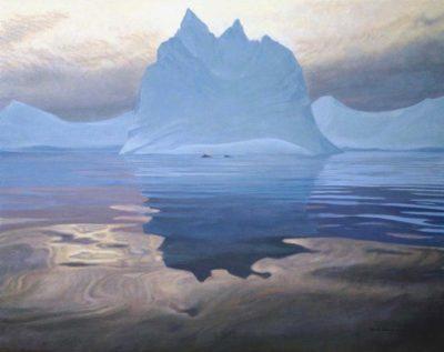 Antarctic Evening - Humpback Whales - Robert Bateman