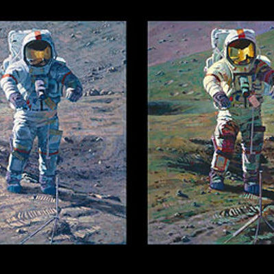Apollo Moonscape, An Explorer's Artist Vision Alan Bean