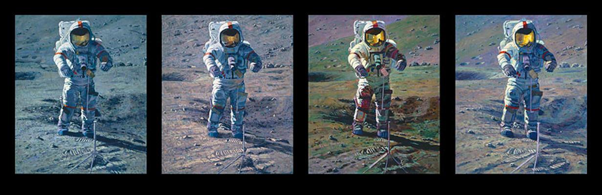 Apollo Moonscape, An Explorer's Artist Vision Alan Bean
