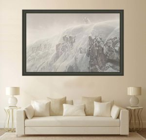Arctic Cliff - White Wolves - Showstopper Canvas - Robert Bateman