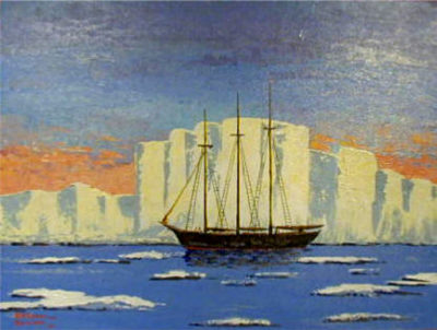 Arctic Schooner Bern Will Brown