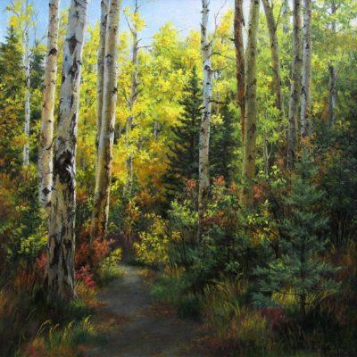 Aspen Trees Near Pyramid Lake, Jasper, AB - Elsie Baer