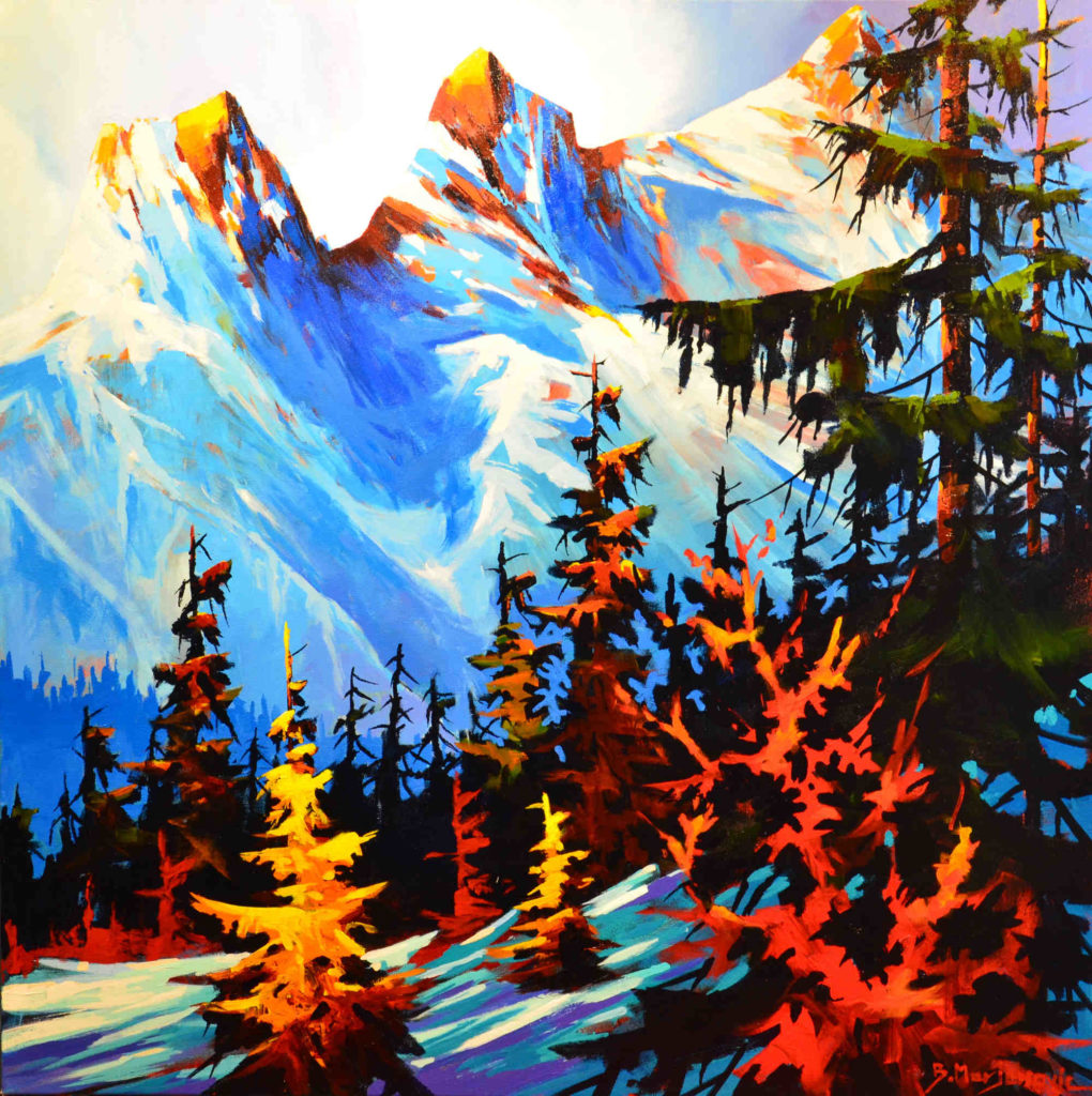 At Three Sisters Slope - Art by Artist Dennis Magnusson