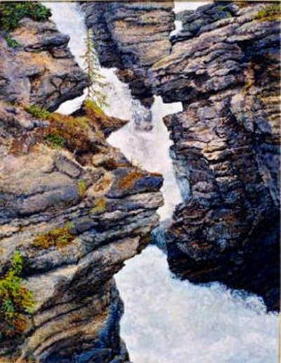 Athabasca Falls Karoll Dalyce Brinton