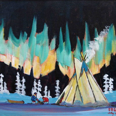 Aurora Teepee - Art by Artist Bern Will Brown