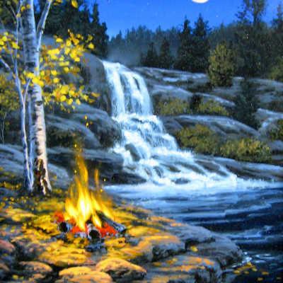 Autumn Falls Darrell Bush