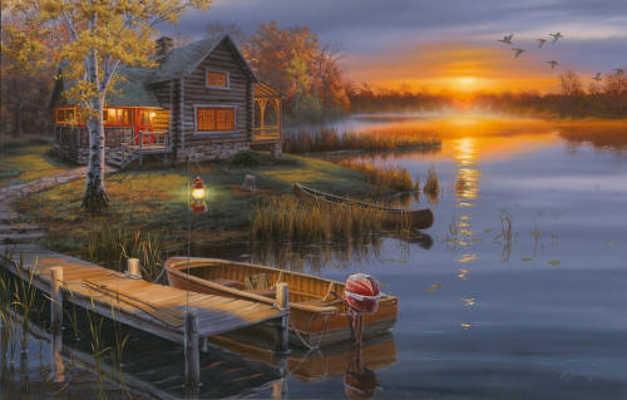 Autumn At The Lake Darrell Bush