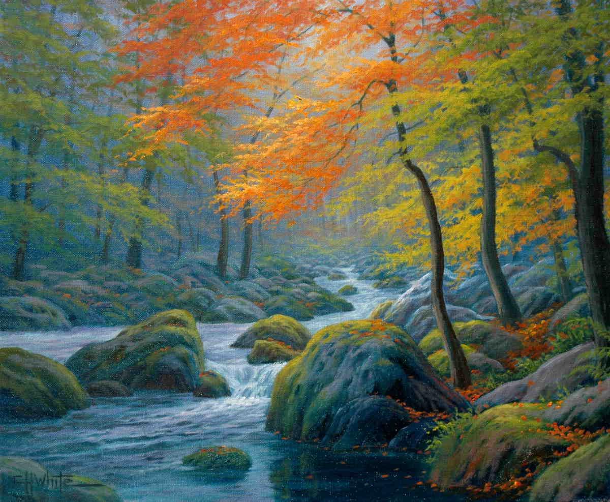 Autumn On The Merced Charles White