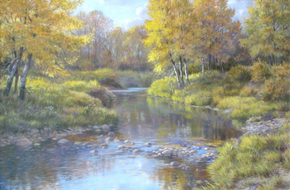 Autumn's Peaceful Stream - Isabel Levesque
