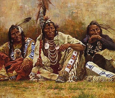 Blackfeet Spectators - Howard Terpning