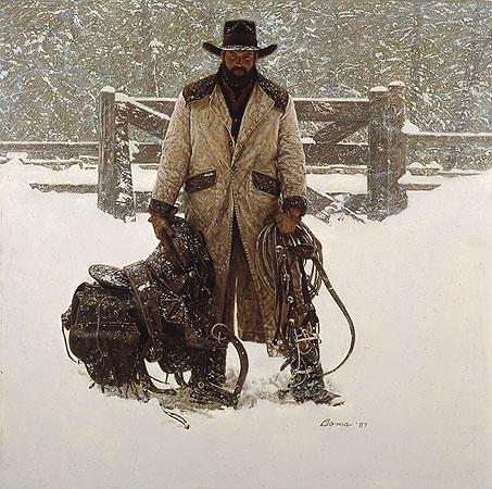 Buck Norris Crossed Sabres Ranch James Bama