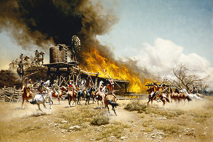 Burning the Way Station - Frank McCarthy
