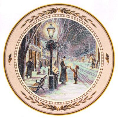 Candlelight Stroll Collector Plate Trisha Romance