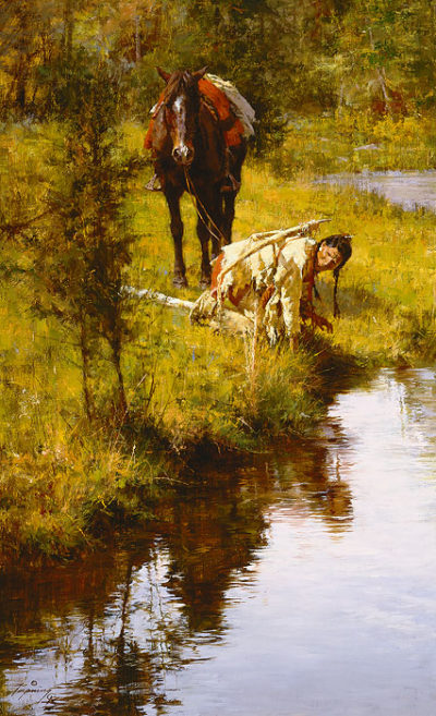 Caution Born Of Necessity Howard Terpning