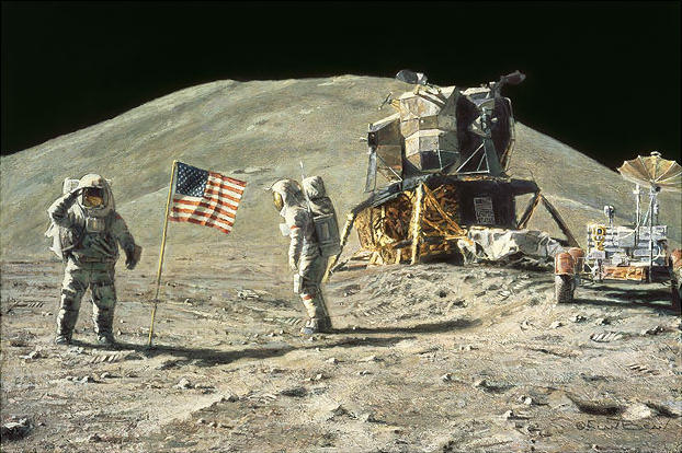 Ceremony On The Plain At Hadley Alan Bean