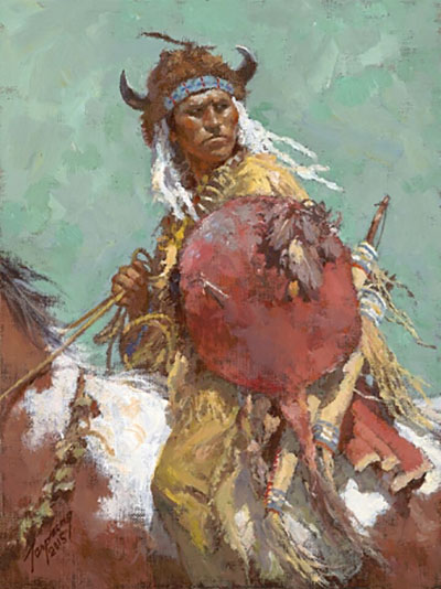 Cheyenne Red Shield - Howard Terpning