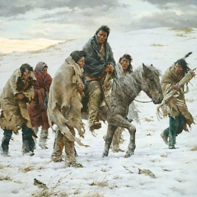 Chief Joseph Rides to Surrender - Howard Terpning