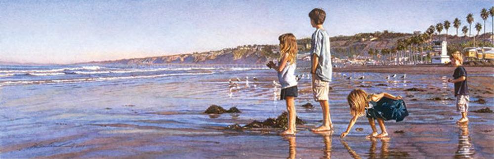 Children On La Jolla Shores Steve Hanks