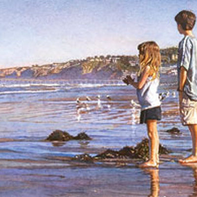 Children On La Jolla Shores Steve Hanks