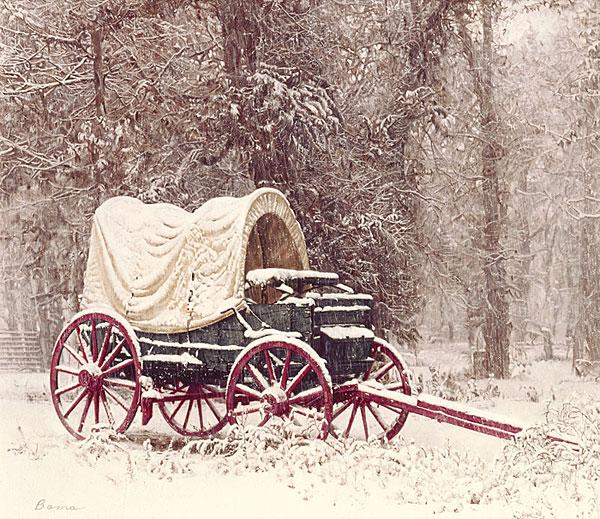 Chuck Wagon in the Snow – James Bama